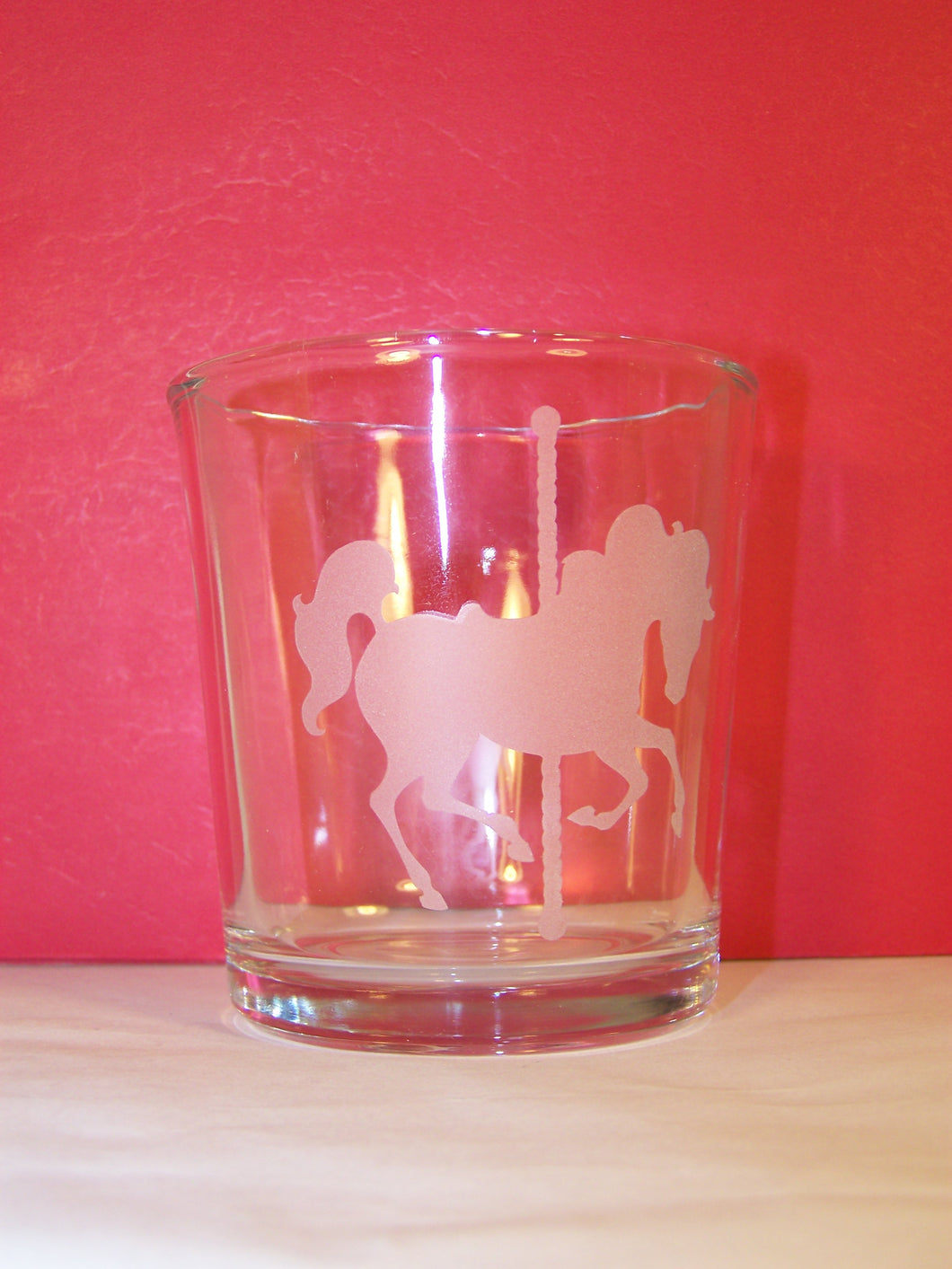 Etched Rocks Glass