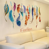 Creative Paintings Home Bedroom Sofa Decorative Background Wall Stickers Decals Removable Color Art Murals-BohoBlissStore-BohoBlissStore