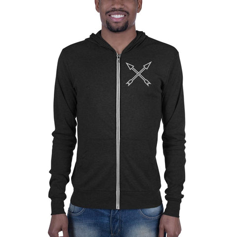 Rise Up Warrior Unisex zip hoodie-BohoBlissStore-BohoBlissStore