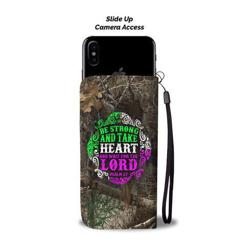 Awesome Take Heart Wallet Phone Case