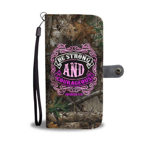 Awesome Be Strong Wallet Phone Case