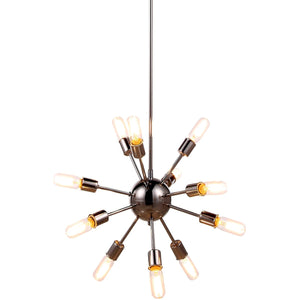 Cork 21 Pendant With 12 Lights - Polished Nickel Finish Pendant