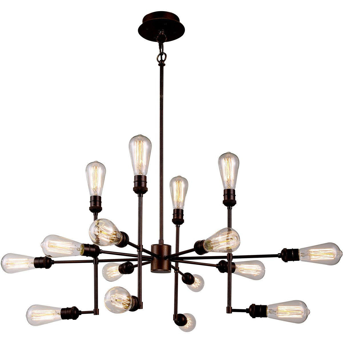 Ophelia 43 Island Pendant With 15 Lights - Cocoa Brown Finish Pendant