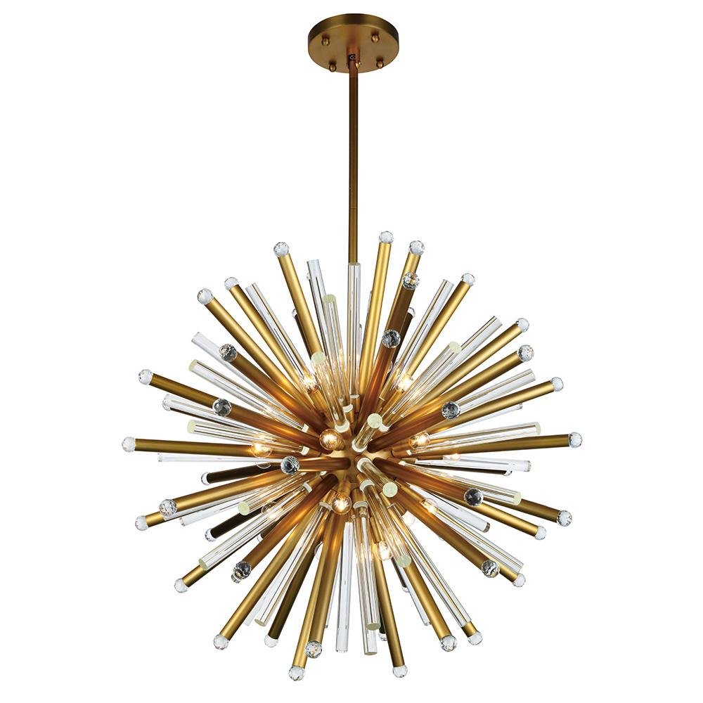 Maxwell 36 Pendant With 21 Lights - Burnished Brass Finish Pendant