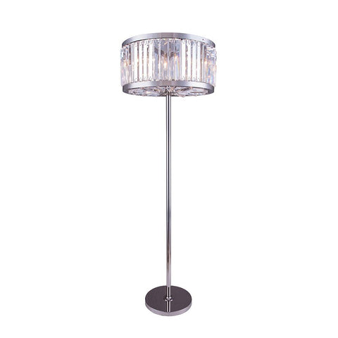 Chelsea 72 Crystal Floor Lamp With 6 Lights - Polished Nickel Finish And Clear Crystal Floor Lamp