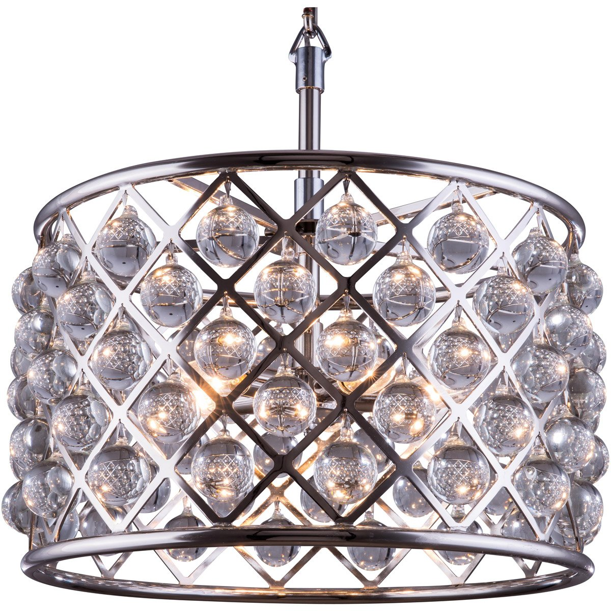 Madison 20 Crystal Pendant Chandelier With 6 Lights - Polished Nickel Finish Chandelier