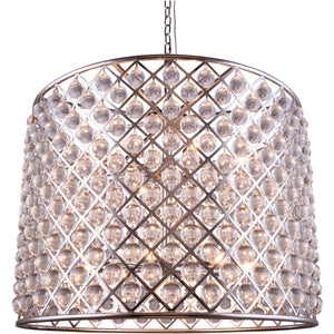 Madison 36 Crystal Pendant Chandelier With 12 Lights - Polished Nickel Finish Chandelier