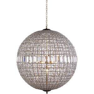 Olivia 36 Crystal Pendant Chandelier With 8 Lights - French Gold Finish Chandelier