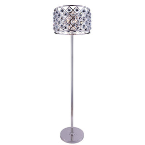 Madison 72 Crystal Floor Lamp With 4 Lights - Polished Nickel Finish And Clear Crystal Floor Lamp