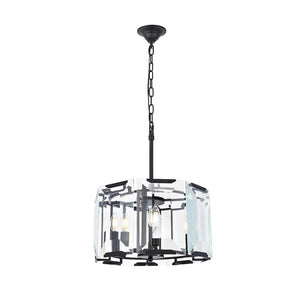 Monaco 17 Mini Pendant With 4 Lights - Flat Black Finish Pendant