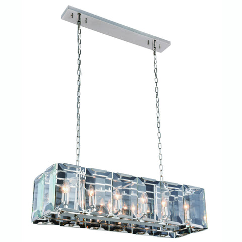 "Monaco 40"" Chandelier with 12 Lights - Polished Nickel Finish"