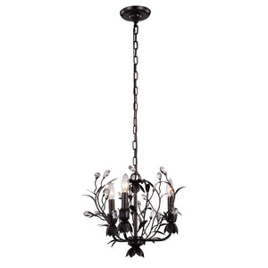 Arbor 14 Crystal Mini Pendant With 3 Lights - Golden Dark Bronze Finish Pendant
