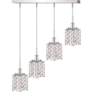 26 Crystal Pendant With 4 Lights - Chrome Finish And Elegant Cut Crystal Pendant