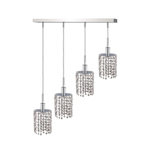 5 Crystal Island Mini Pendant With 4 Lights - Chrome Finish And Spectra Swarovski Crystal Pendant