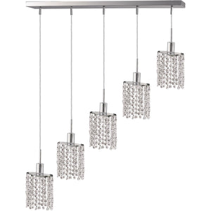 Mini 34 Crystal Pendant With 4 Light - Chrome Finish And Royal Cut Crystal Pendant