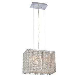 Moda 14 Mini Crystal Pendant With 2 Lights - Chrome Finish And Elegant Cut Crystal Pendant
