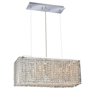 Moda 26 Crystal Chandelier With 4 Lights - Chrome Finish And Elegant Cut Crystal Chandelier
