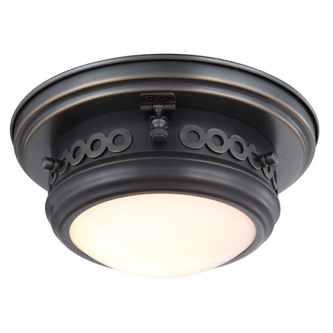 Mallory 10 Flush Mount With 1 Light - Bronze Finish Flush Mount