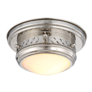 Mallory 10 Flush Mount With 1 Light - Polished Nickel Finish Flush Mount