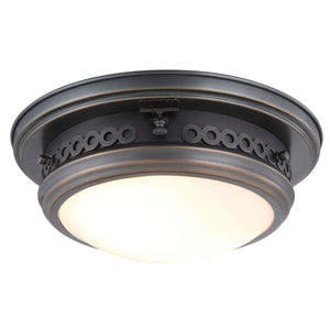 Mallory 13 Flush Mount With 2 Lights - Bronze Finish Flush Mount