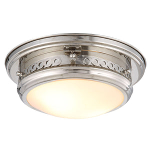 Mallory 13 Flush Mount With 2 Lights - Polished Nickel Finish Flush Mount
