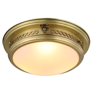Mallory 16 Flush Mount With 3 Lights - Burnished Brass Finish Flush Mount