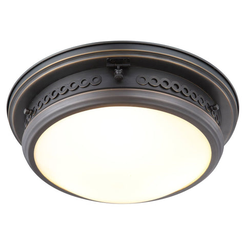 Mallory 16 Flush Mount With 3 Lights - Bronze Finish Flush Mount