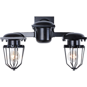 Kingston 18 Wall Sconce With 2 Lights - Black Finish Wall Sconce