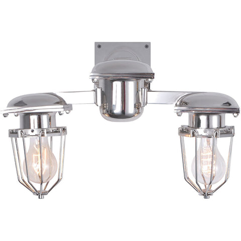 Kingston 18 Wall Sconce With 2 Lights - Chrome Finish Wall Sconce