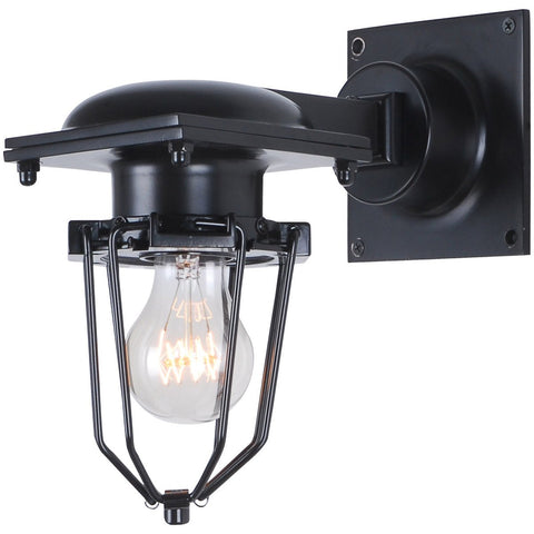Kingston 9 Wall Sconce With 1 Light - Black Finish Wall Sconce