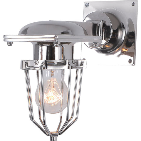 Kingston 9 Wall Sconce With 1 Light - Chrome Finish Wall Sconce