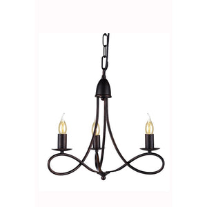 Lyndon 18 Mini Pendant With 3 Lights - Dark Bronze Finish Pendant