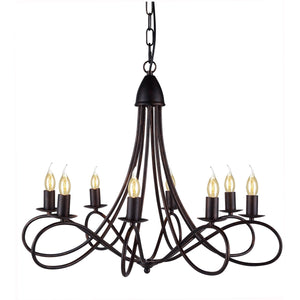 Lyndon 28 Pendant With 8 Lights - Dark Bronze Finish Pendant