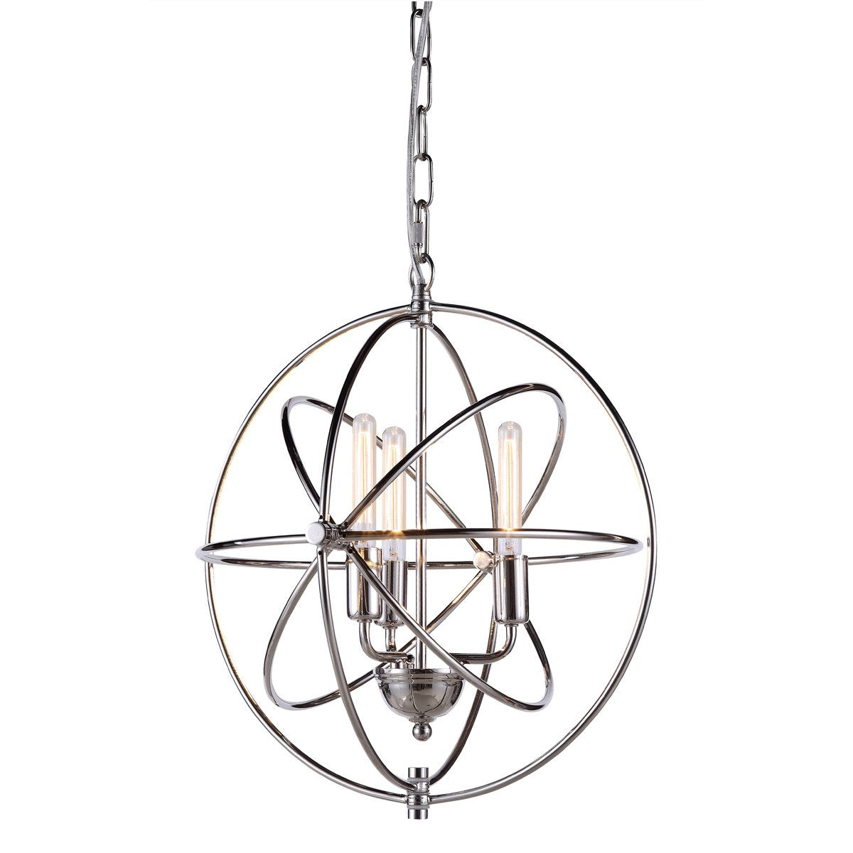 Vienna 17 Mini Pendant With 3 Lights - Polished Nickel Finish Pendant