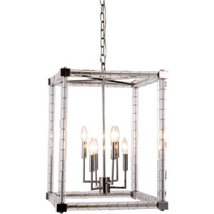 Cristal 18 Mini Pendant With 6 Lights - Polished Nickel Finish Pendant