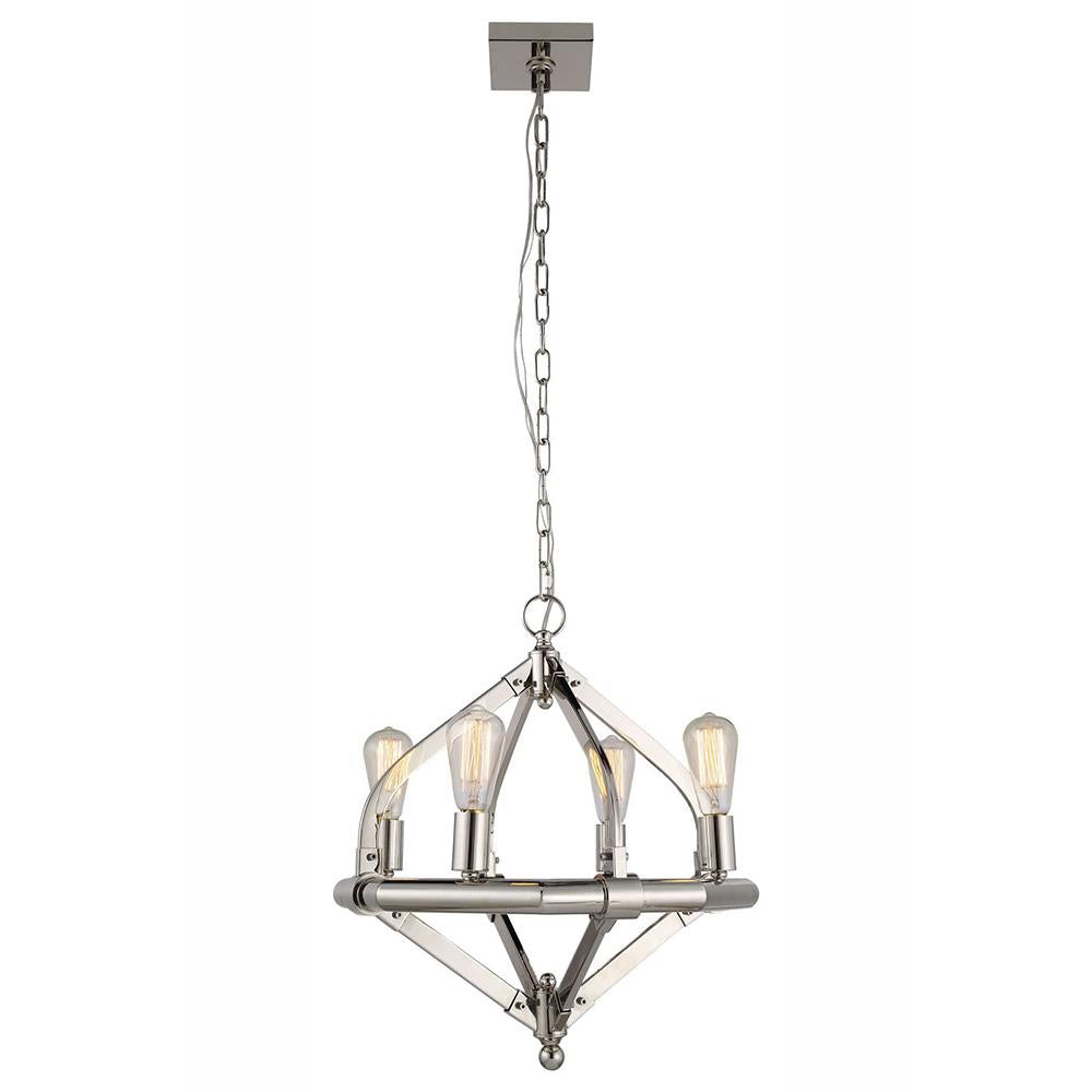 Illumina 20 Pendant With 4 Lights - Polished Nickel Finish Pendant