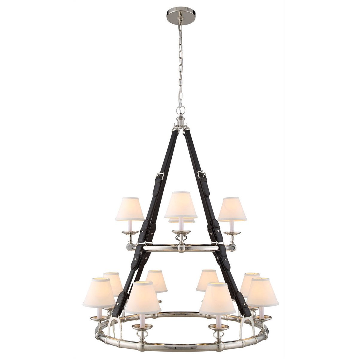Cascade 37 Pendant With 12 Lights - Polished Nickel Finish Pendant
