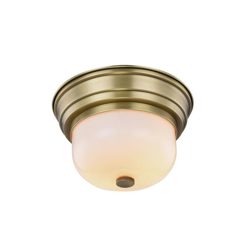 Ellis 10 Flush Mount With 2 Lights - Burnished Brass Finish Flush Mount