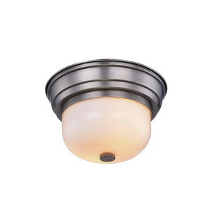 Ellis 10 Flush Mount With 2 Lights - Vintage Nickel Finish Flush Mount