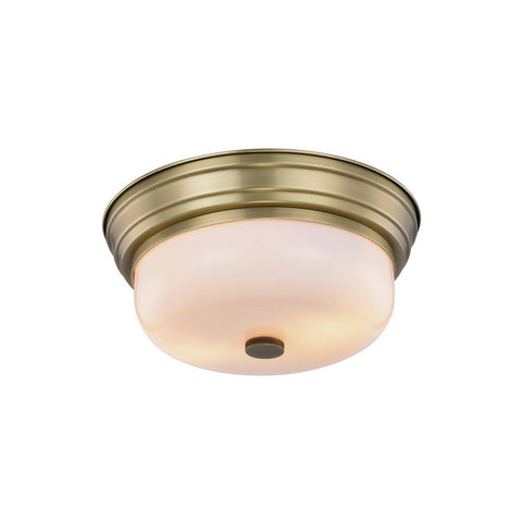 Ellis 15 Flush Mount With 2 Lights - Burnished Brass Finish Flush Mount