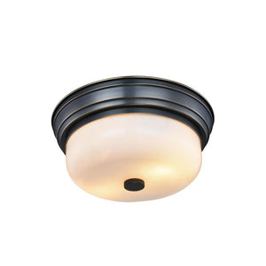 Ellis 15 Flush Mount With 2 Lights - Bronze Finish Flush Mount
