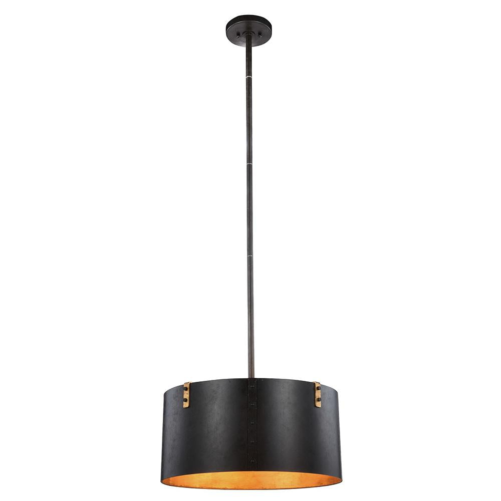 Hudson 20 Pendant With 3 Lights - Vintage Bronze Finish Pendant