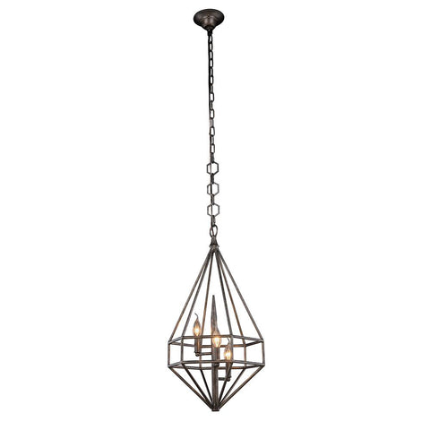 Marquis 14 Mini Pendant With 3 Lights - Aged Iron Finish Pendant