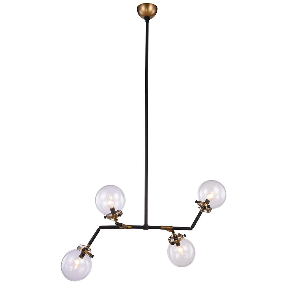 Leda 40 Pendant With 4 Lights - Burnished Brass Finish Pendant