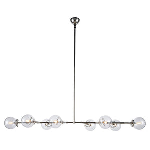Leda 66 Pendant With 8 Lights - Polished Nickel Finish Pendant
