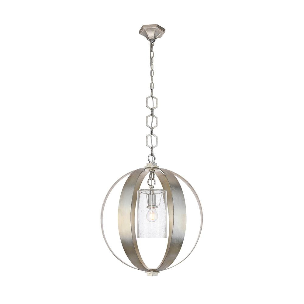 Serenity 21 Pendant - Silver Leaf Finish Pendant