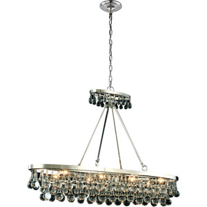 Bettina 44 Crystal Island Pendant Chandelier With 8 Lights - Polished Nickel Finish Chandelier