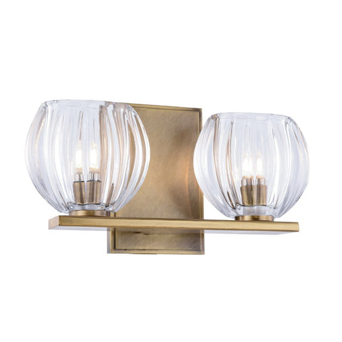 Monticello 11 Wall Sconce With 2 Lights - Light Antique Brass Finish Wall Sconce