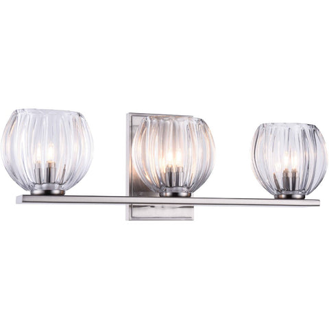 Monticello 19 Wall Sconce With 3 Lights - Burnished Nickel Finish Wall Sconce