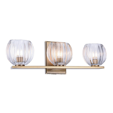Monticello 19 Wall Sconce With 3 Lights - Light Antique Brass Finish Wall Sconce